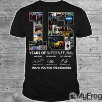 15 years of Supernatural shirt by myfrogteee