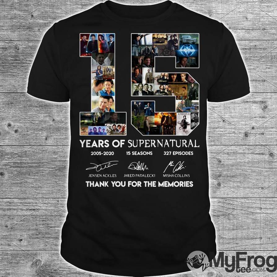 15 years of Supernatural shirt by myfrogteee