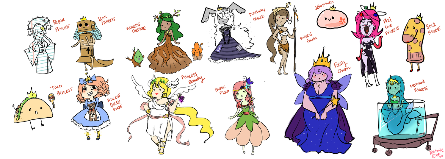 Adventure Time Princesses by DinoTurtle on DeviantArt