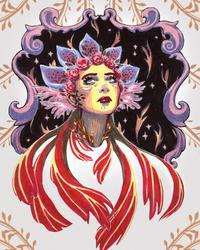 floral portrait by silkytea
