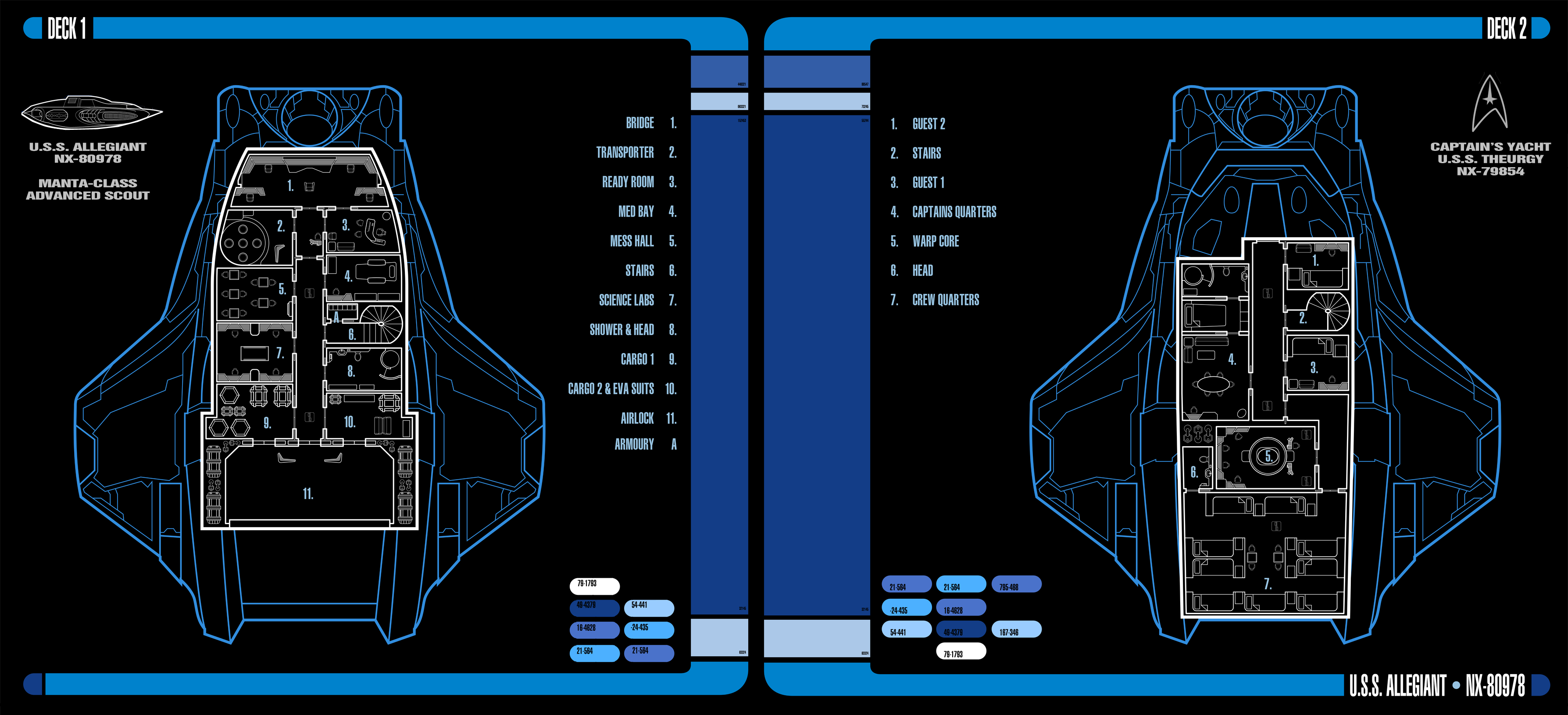 USS Allegiant LCARS Interior View By Auctor Lucan On