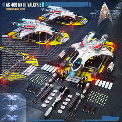 AC-409 Mk III Valkyrie Federation Warp Fighter by Auctor-Lucan