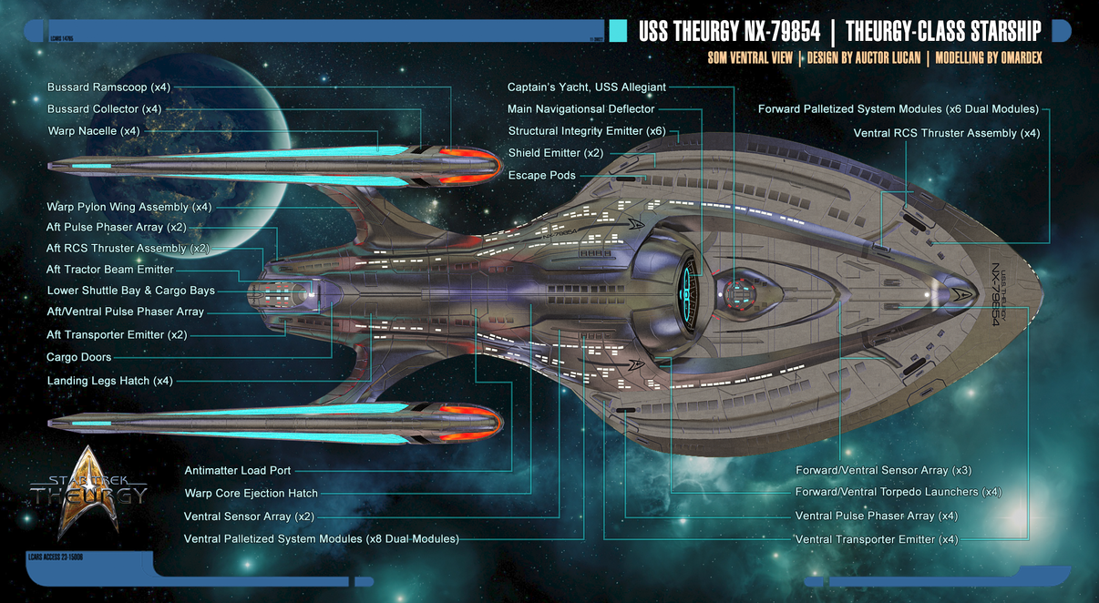 Theurgy Class Starship Schematics Ventral View By Auctor