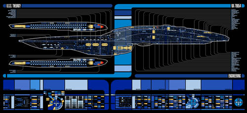 U.S.S. Theurgy NX-79854 | LCARS MSD by Auctor-Lucan