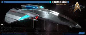 SS Sabine NX-59846 | Prototype Gunship | Sideview