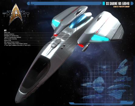 SS Sabine NX-59846   Prototype Gunship   Front