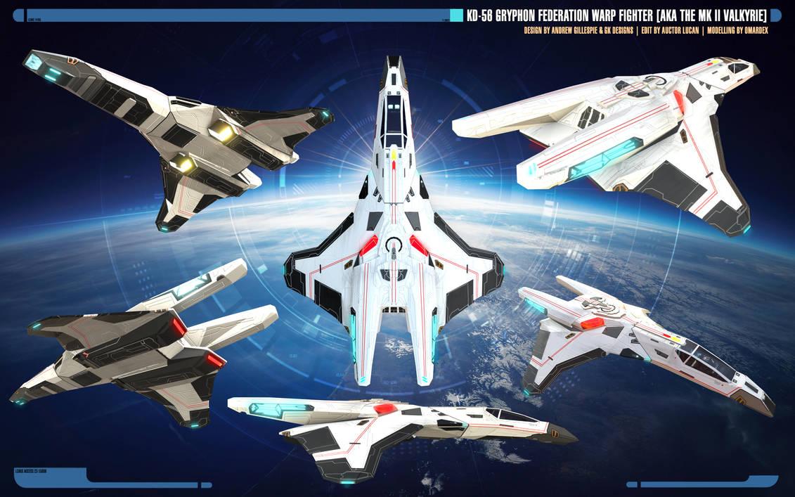 Stock | KD-56 Gryphon-class Warp Fighter