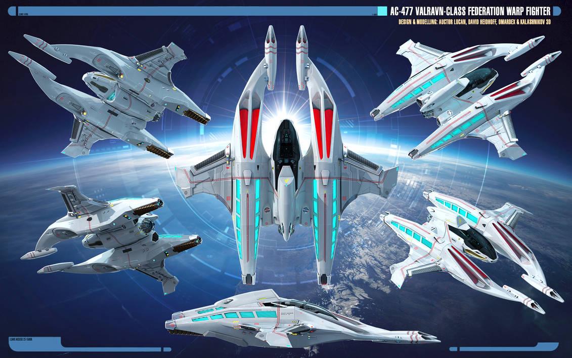 Overview AC-477 Valravn-class Warp Fighter