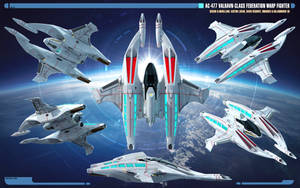 Overview AC-477 Valravn-class Warp Fighter by Auctor-Lucan