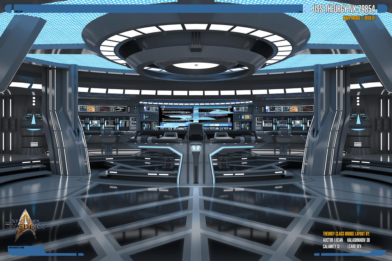 USS Theurgy NX-79854 Main Bridge | Render 01