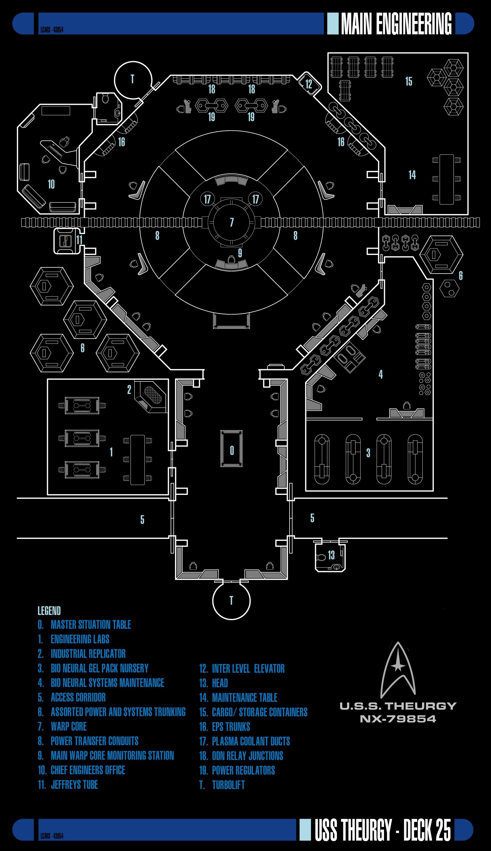 Main Engineering - Deck 25 | USS Theurgy NX-79854