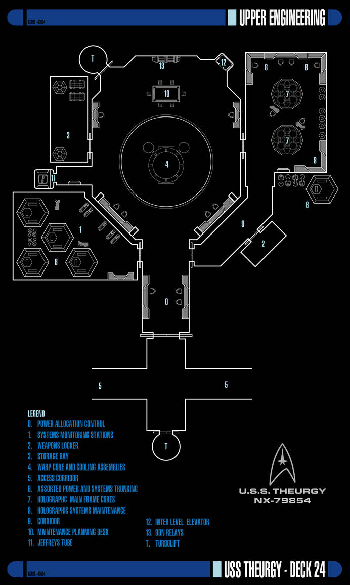 Upper Engineering - Deck 24   USS Theurgy NX-79854 by Auctor-Lucan