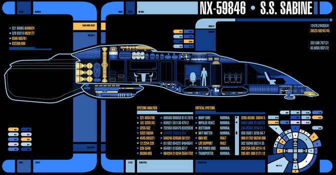 SS Sabine NX-59846 MSD   Star Trek: Theurgy