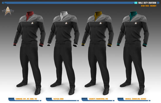 Male Duty Uniforms | Star Trek: Theurgy