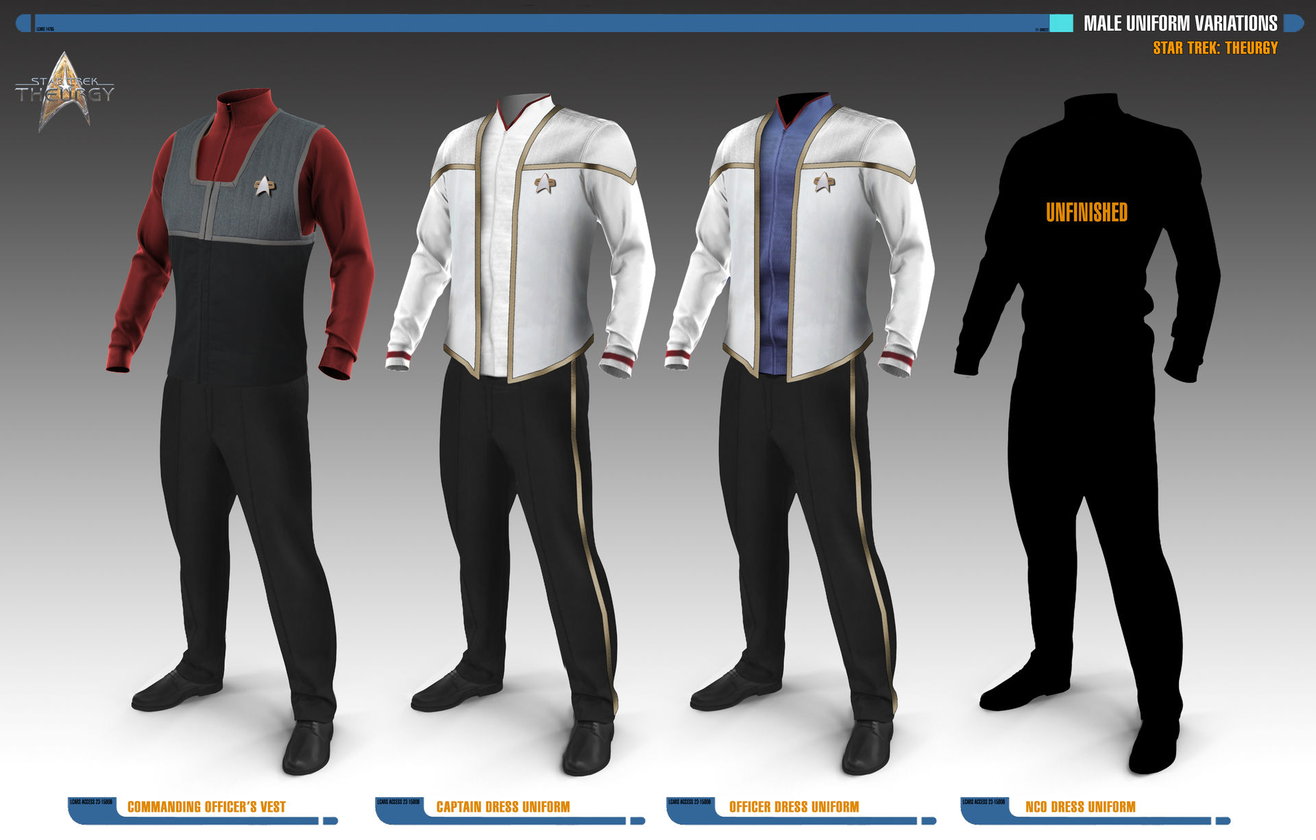 Male Uniform Variations | Star Trek: Theurgy