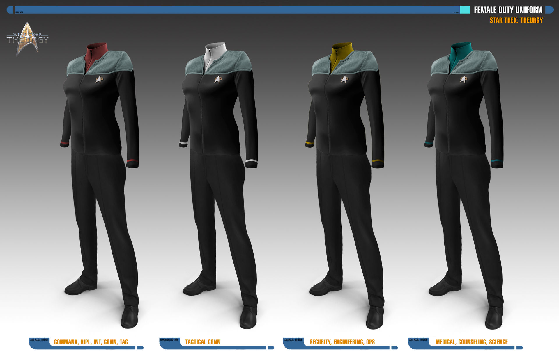 Female Duty Uniforms | Star Trek: Theurgy