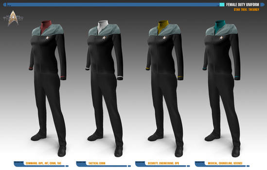 Female Duty Uniforms | Star Trek: Theurgy
