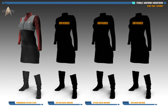 Female Uniform Variations | Star Trek: Theurgy