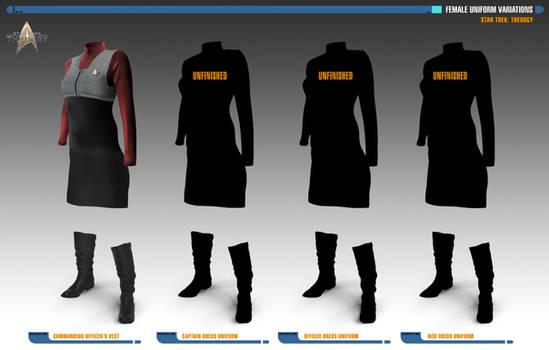 Female Uniform Variations | Star Trek: Theurgy