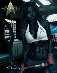 Ens. L'Nari Off-Duty | Star Trek: Theurgy