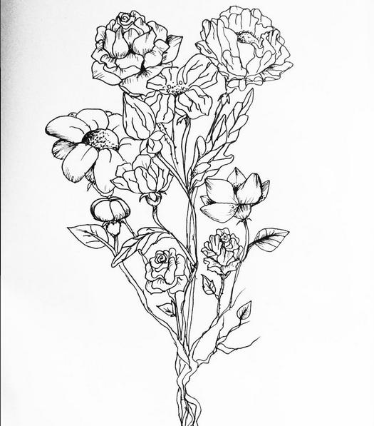 More flower-doodling by Milumina
