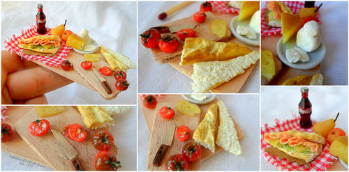 Miniature food : Good lunch !