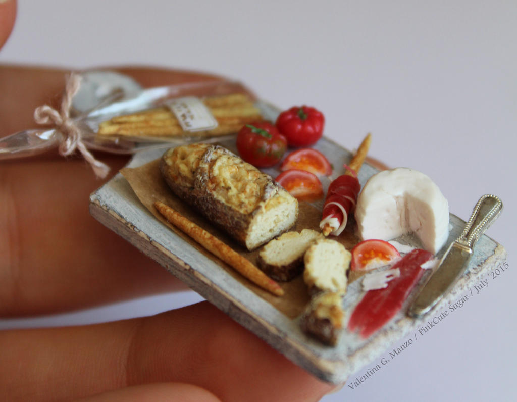 Miniature food 1/12 : summer lunch Italian style by Valentina-PinkCute