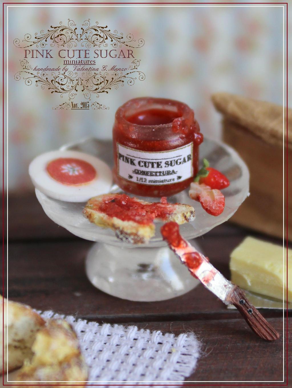 1/12 scale miniature : Confettura di fragole by Valentina-PinkCute