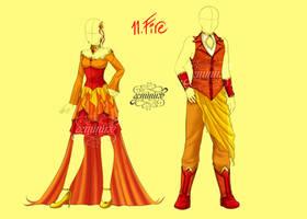 Fashion Challenge 11: Fire by Geminine-nyan