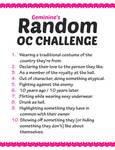 Random OC challenge list