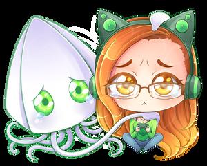 Commission - Kat and Squid [Speedpaint]