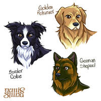 Dogs by Geminine-nyan