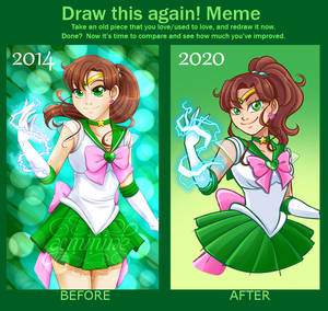 Draw this Again meme - Sailor Jupiter