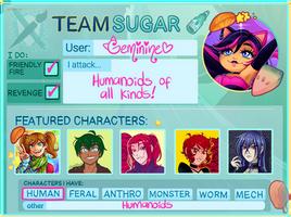 Art fight 2020 - Team Sugar - Geminine