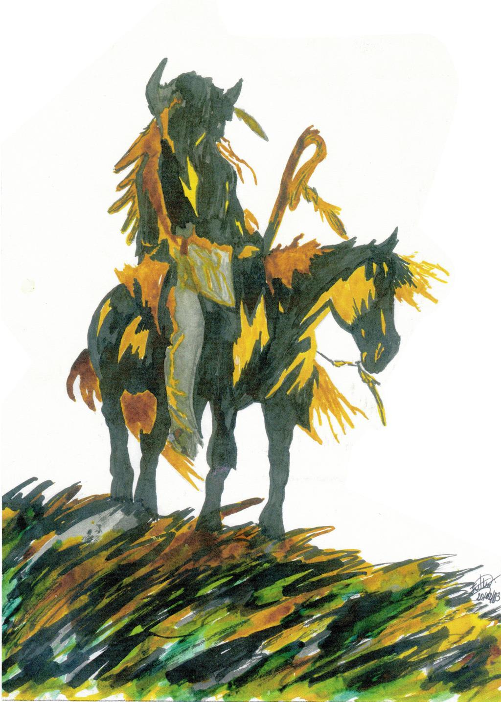 Mohawk horseman
