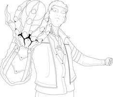 cyberpunk Character (Line-Art)