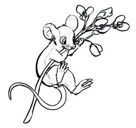 Another mouse (but this one with some flowers) by Houkou-NRL