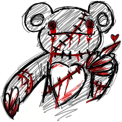 Evil teddy bear by Killer-Beast on DeviantArt
