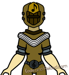 Yellow Music Battle Ranger Concept Art by CodeAndReload