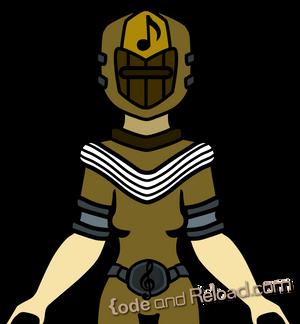 Yellow Music Battle Ranger Concept Art