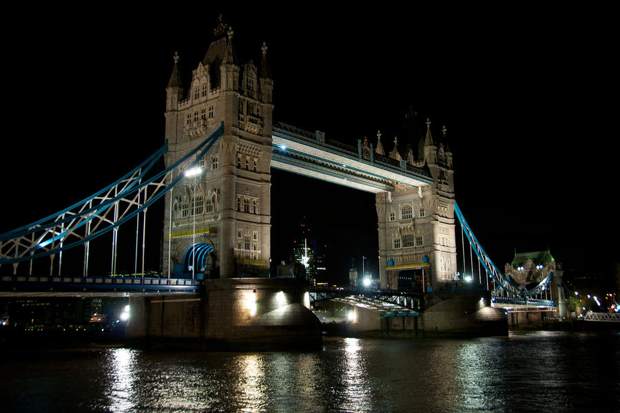 Tower Bridge at Night by Foxseye