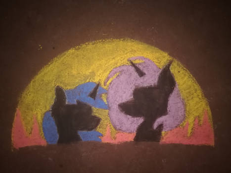 Starved for Light: Chalk Drawing