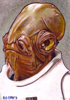Admiral Ackbar by charles-hall