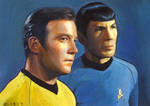 Spock and Kirk card