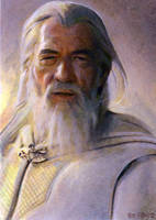 white gandalf card by charles-hall