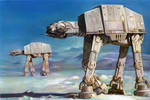 Imperial walkers on Hoth