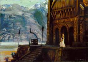Eowyn scene card 190 by charles-hall