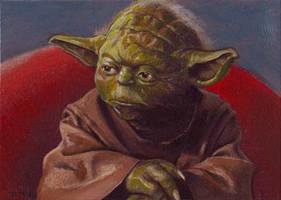 Yoda card 261 by charles-hall