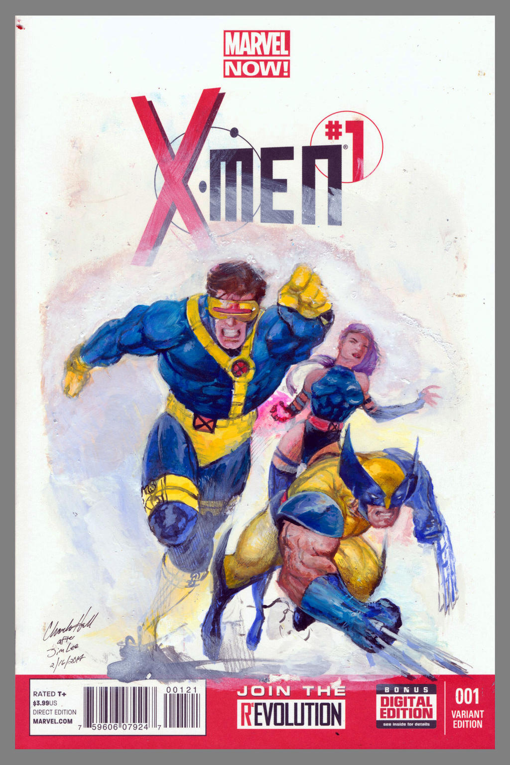 x-men 1 sketch cover after jim lee by charles-hall