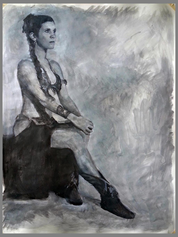 princess leia tonal study by charles-hall